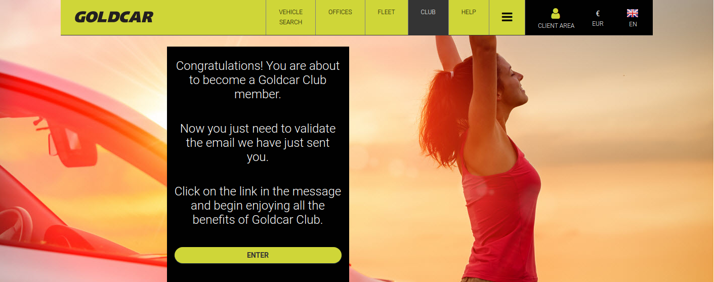 How do you become a member of Club Goldcar? (4)