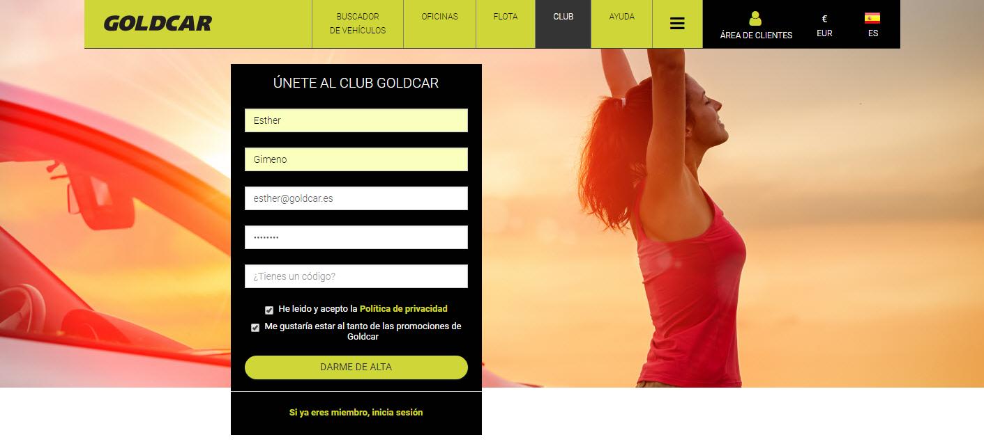 ¿Cómo hacerse miembro del Club Goldcar? (3)