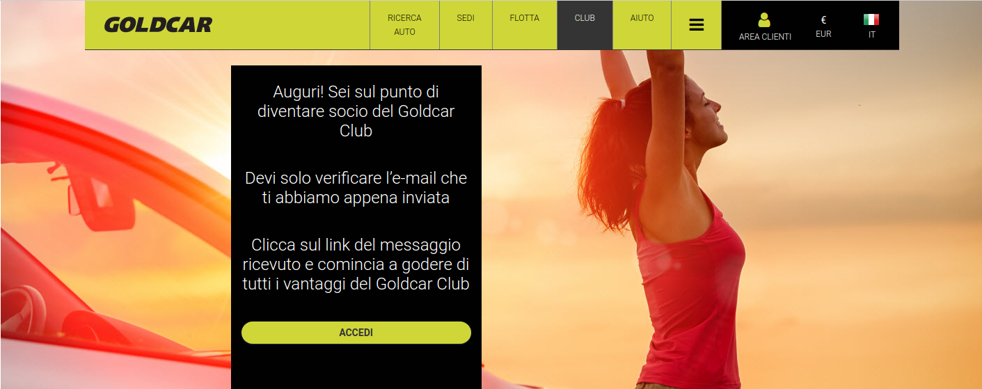 Come diventare membro del Club Goldcar?  (4)