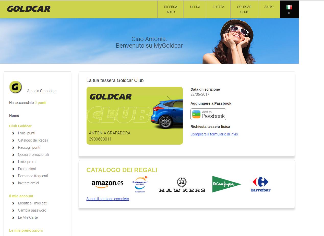 Come diventare membro del Club Goldcar?  (5)