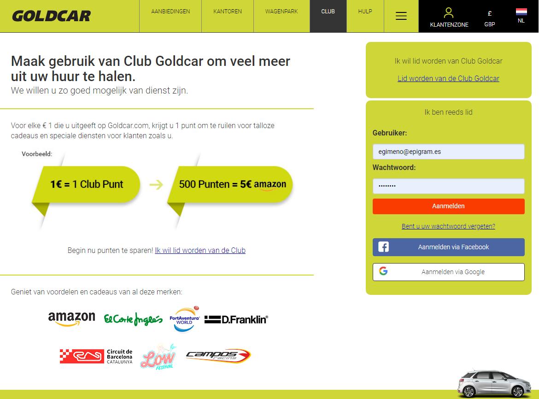 Lid worden van Club Goldcar (2)