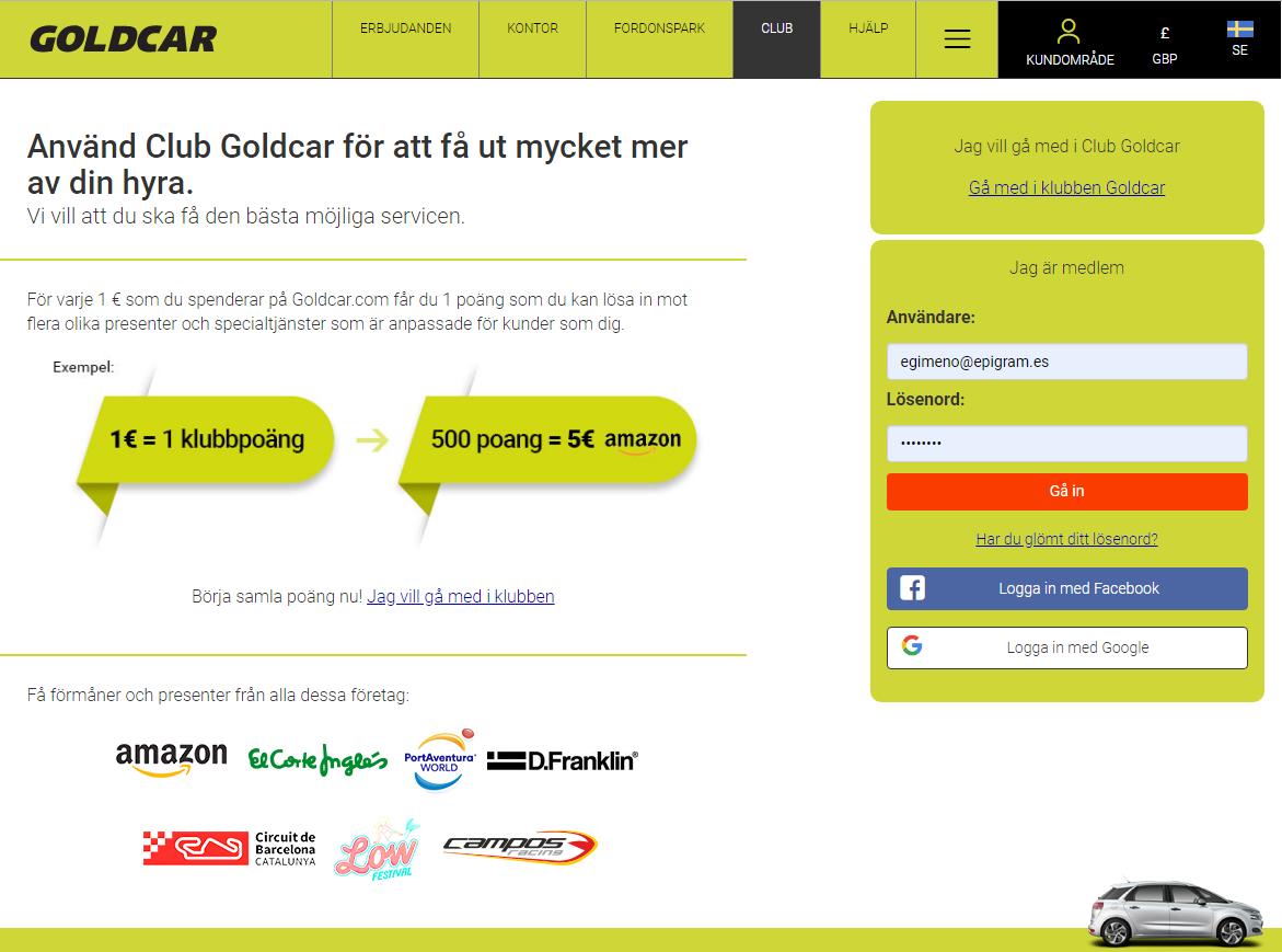 Hur blir man medlem i Club Goldcar?    (2)