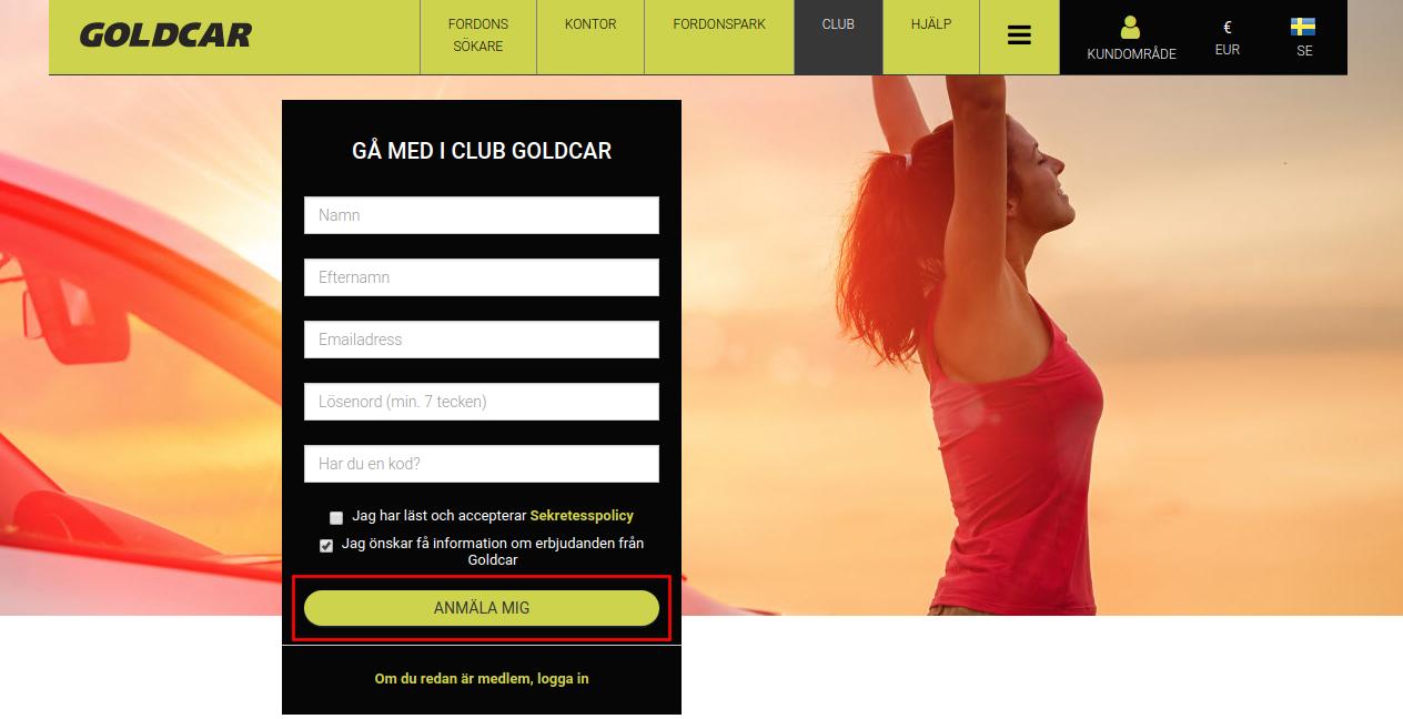 Hur blir man medlem i Club Goldcar?    (3)