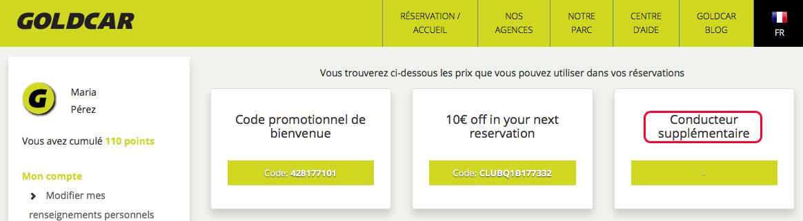 Comment puis-je échanger le prix « conducteur additionnel », et comment l'appliquer lors de la réservation? (6)