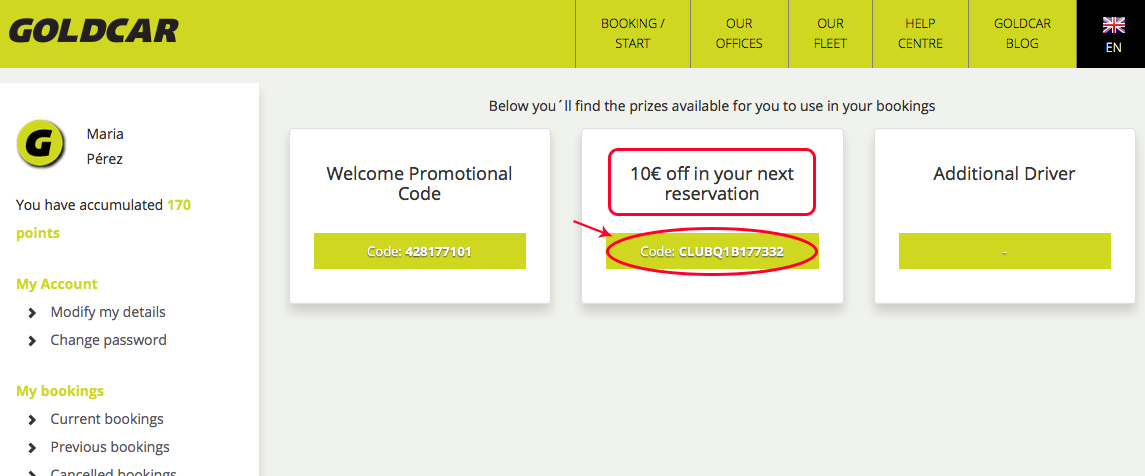 How to redeem points for discounts on the next rental?  (6)