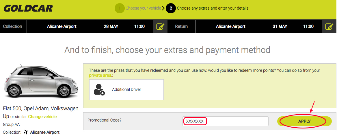 How to redeem points for discounts on the next rental?  (8)