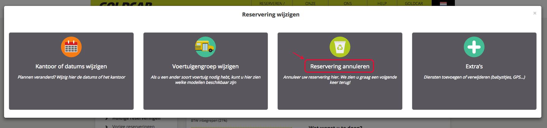 Een reservering annuleren   (4)