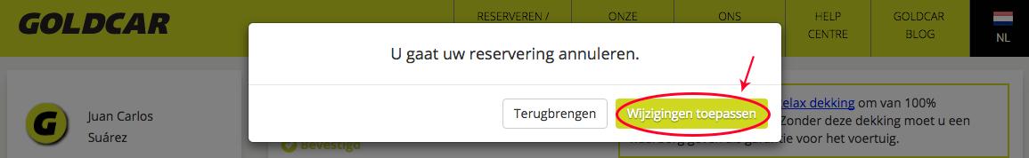 Een reservering annuleren   (5)