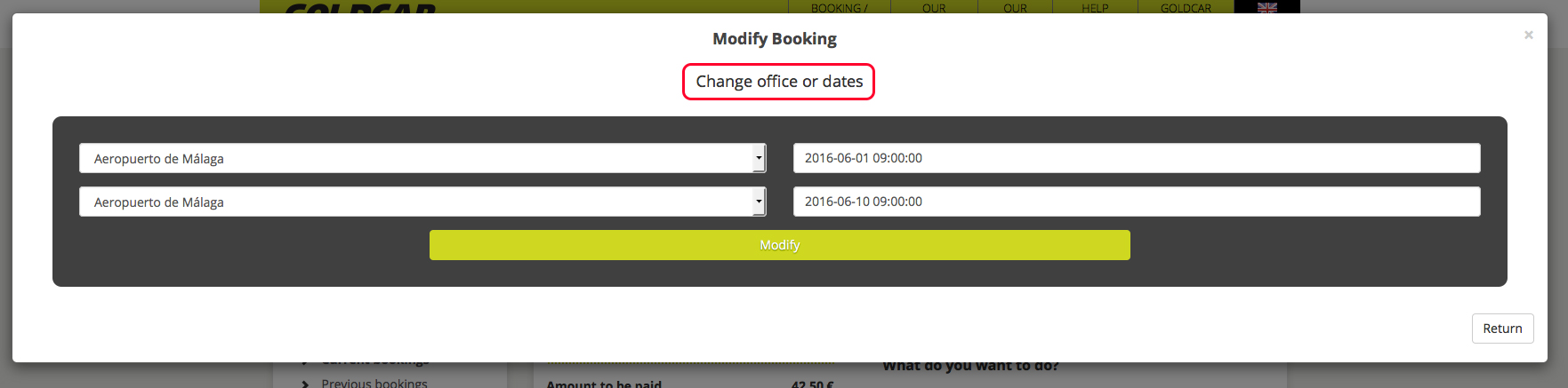 How can I change my booking (change of date, change of vehicle, add or remove extras…) (5)