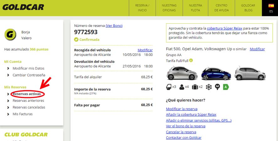 ¿Cómo modifico mi reserva? (Cambiar de fecha, cambiar de vehículo, añadir o eliminar extras...) (2)