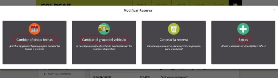 ¿Cómo modifico mi reserva? (Cambiar de fecha, cambiar de vehículo, añadir o eliminar extras...) (4)
