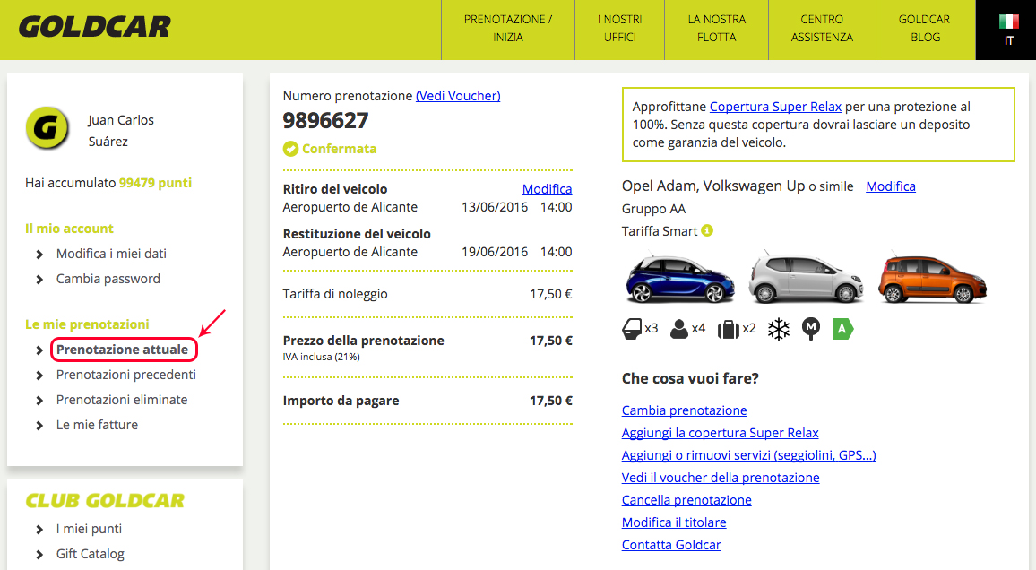Come si modifica una prenotazione? (Cambio data, veicolo, aggiungere o eliminare extra...) (2)