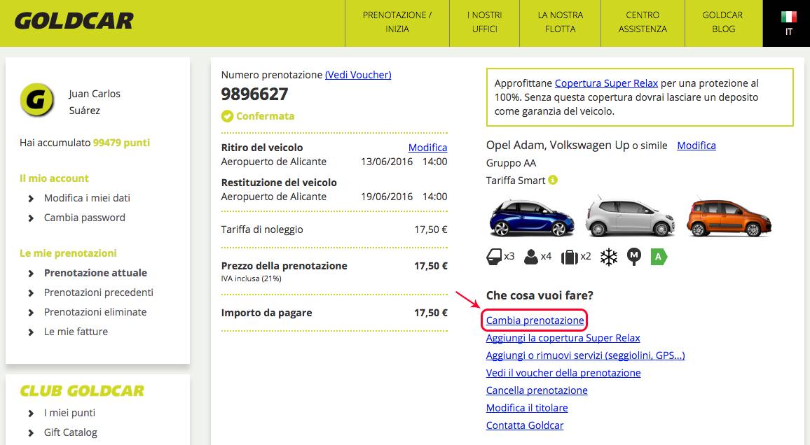 Come si modifica una prenotazione? (Cambio data, veicolo, aggiungere o eliminare extra...) (3)