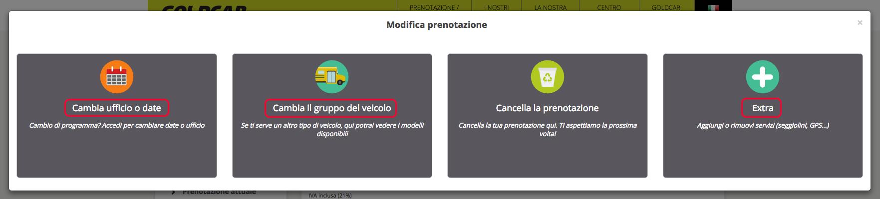 Come si modifica una prenotazione? (Cambio data, veicolo, aggiungere o eliminare extra...) (4)