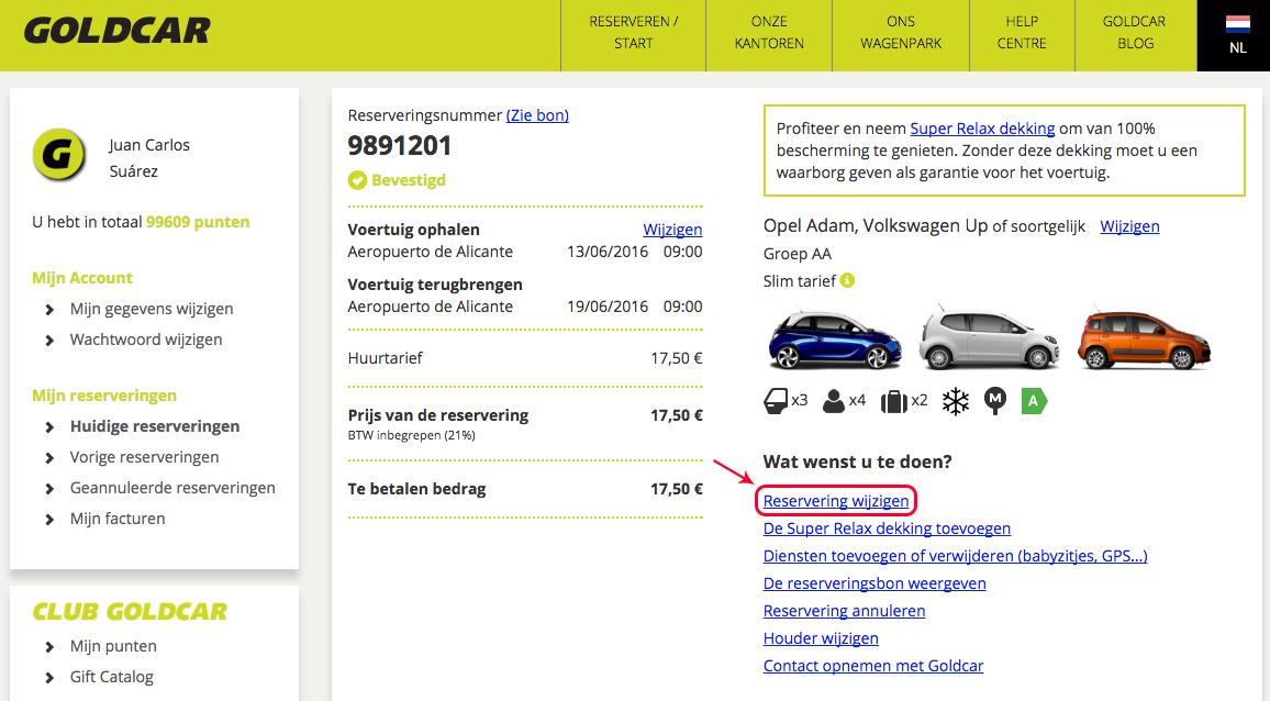 Mijn reservering wijzigen (Datum wijzigen, voertuig wijzigen, extra's toevoegen of verwijderen…) (3)