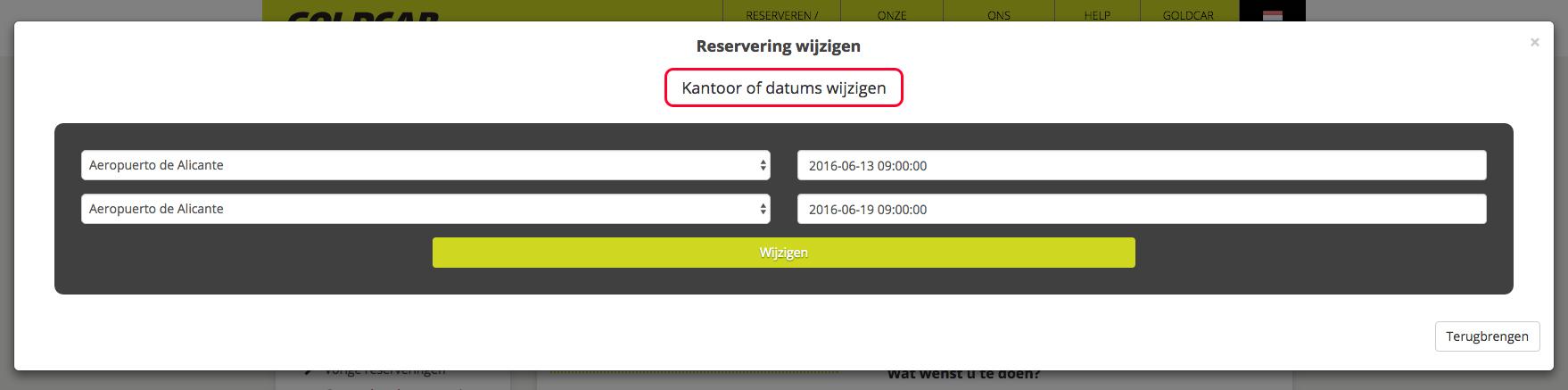 Mijn reservering wijzigen (Datum wijzigen, voertuig wijzigen, extra's toevoegen of verwijderen…) (5)