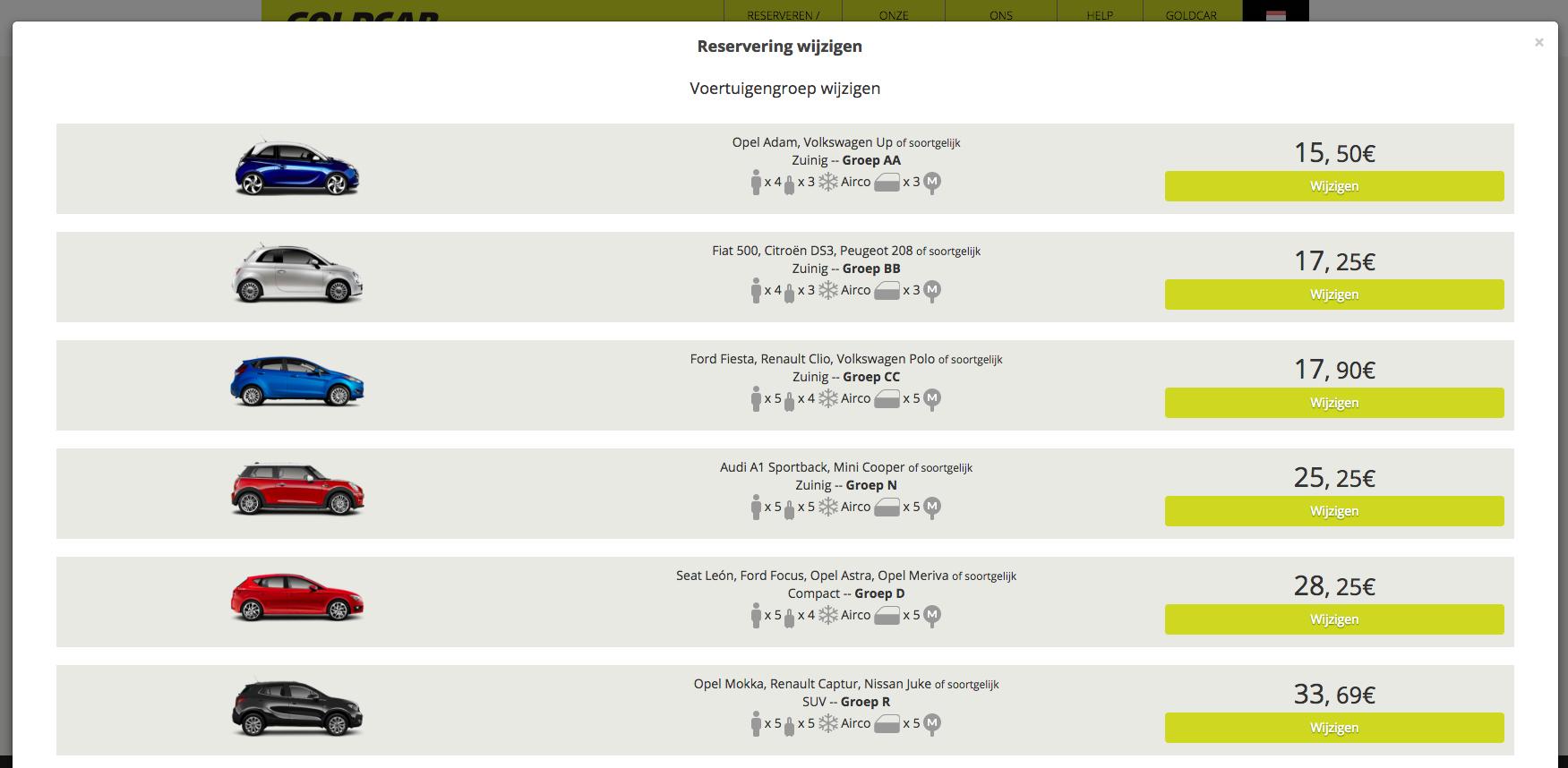 Mijn reservering wijzigen (Datum wijzigen, voertuig wijzigen, extra's toevoegen of verwijderen…) (6)