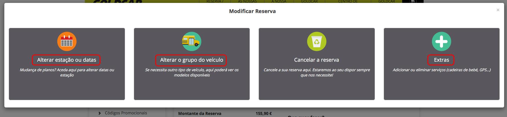 Como altero a minha reserva? (Mudar a data, mudar de veículo, adicionar ou remover extras...) (4)