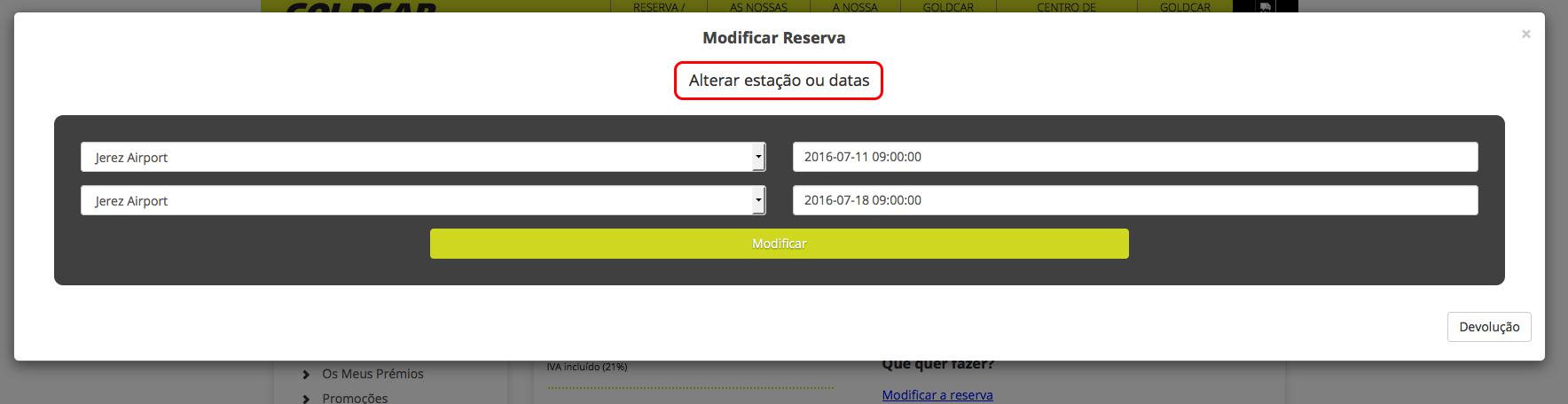 Como altero a minha reserva? (Mudar a data, mudar de veículo, adicionar ou remover extras...) (5)