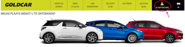 Club Goldcar openen (wanneer u al lid bent)
