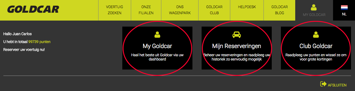 Club Goldcar openen (wanneer u al lid bent) (3)