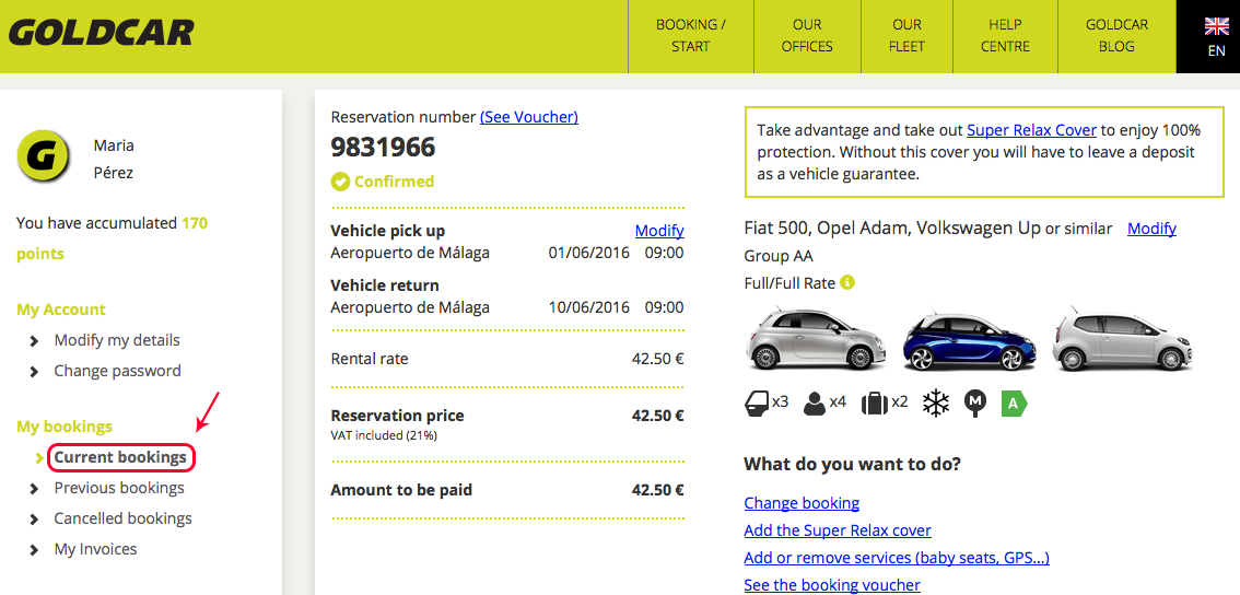 How do I see my booking (When I have not collected the vehicle yet)? (2)