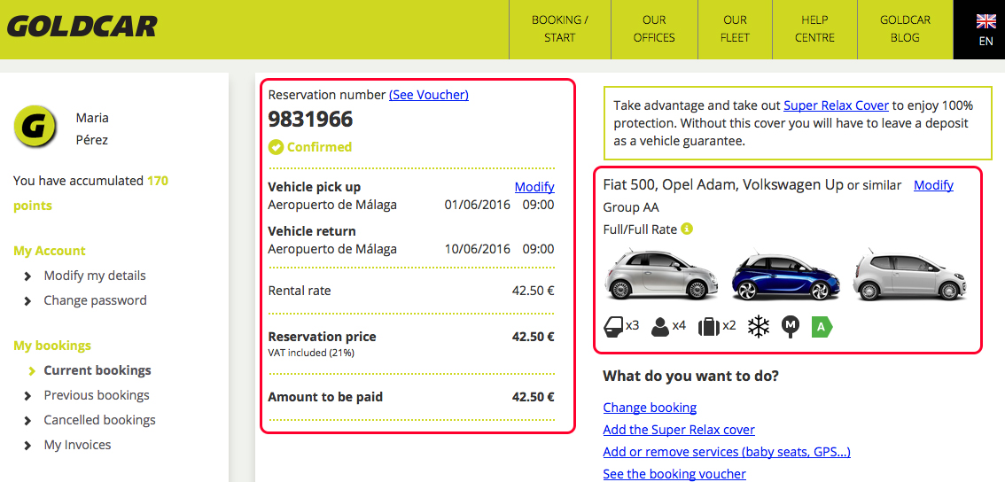 How do I see my booking (When I have not collected the vehicle yet)? (3)