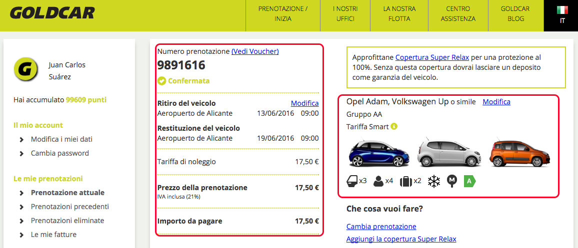 In che modo posoo consultare la mia prenotazione (Quando non ho ancora ritirato il veicolo)? (3)