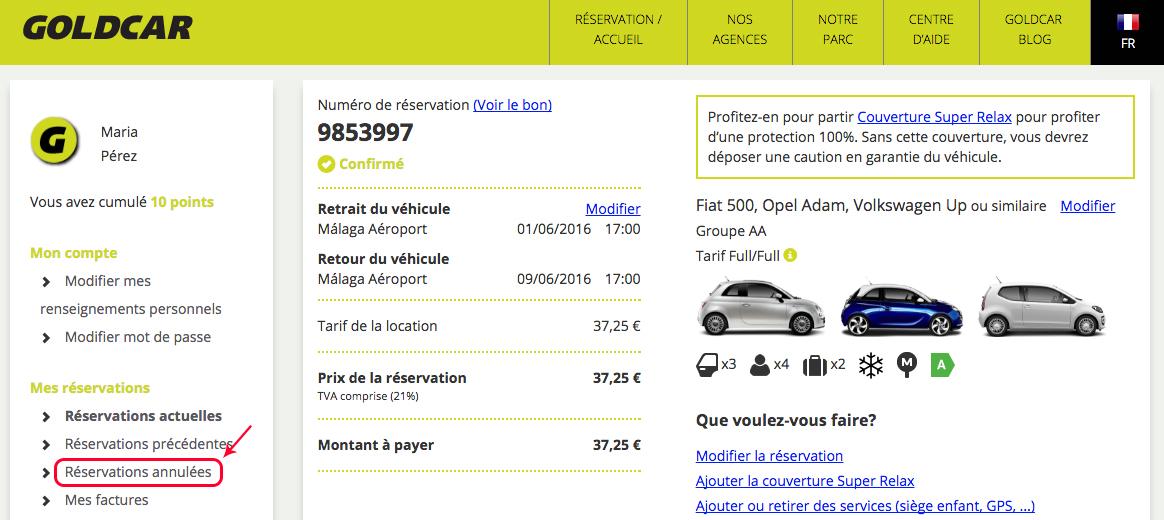 Comment voir mes réservations annulées ? (2)