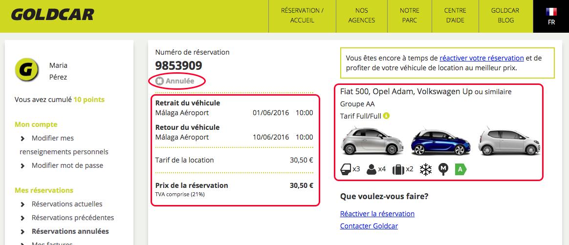 Comment voir mes réservations annulées ? (3)