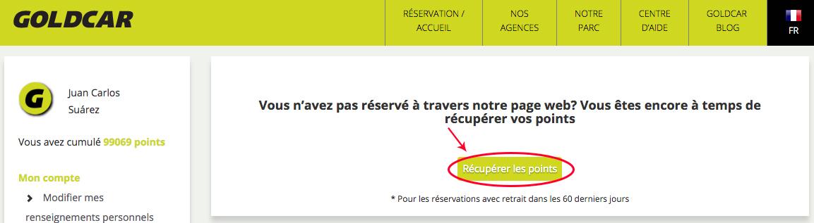 Comment puis-je solliciter des points de réservations précédentes ? (3)