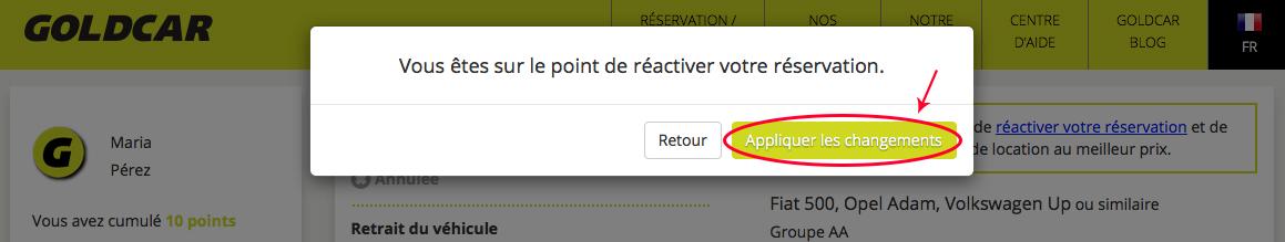 Comment réactiver une réservation annulée ?  (4)