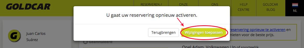 Een geannuleerde reservering reactiveren?   (4)