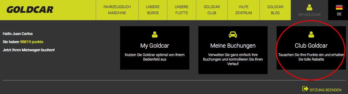 Wie erfolgt die abmeldung vom Goldcar Club?
