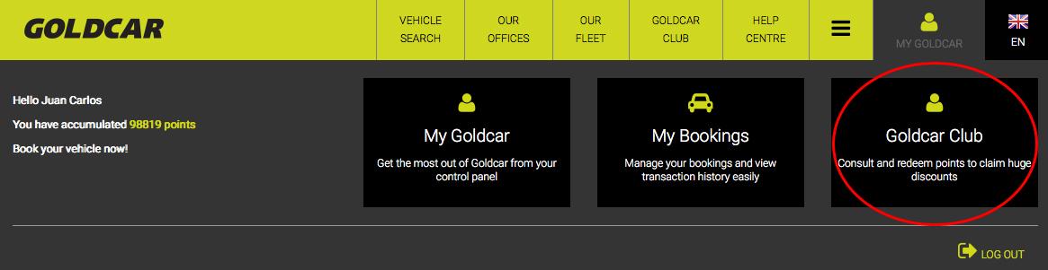 How can I leave Club Goldcar?