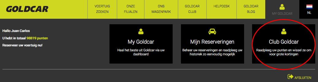 Hoe schrijf ik me uit bij Club Goldcar?