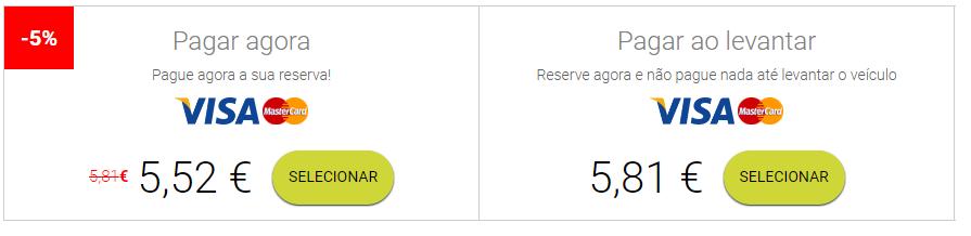 Posso fazer o pré-pagamento da reserva antes de ir buscar o veículo?